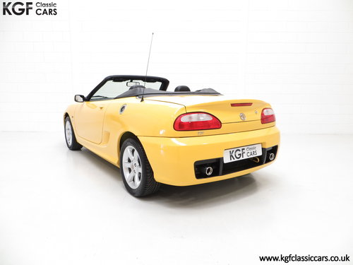 2002 An Exceptional Trophy Yellow MG TF 135, Just 20,339 Miles SOLD (picture 4 of 6)