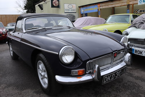 1972 MGB Roadster in midnight blue SOLD (picture 1 of 5)