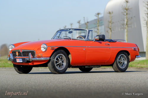 An excellent MGB roadster 1974  LHD For Sale (picture 1 of 6)