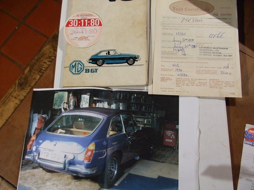 1973 original handbook + mot's ,tax disc,photo,bills for PTR 570M SOLD (picture 1 of 2)