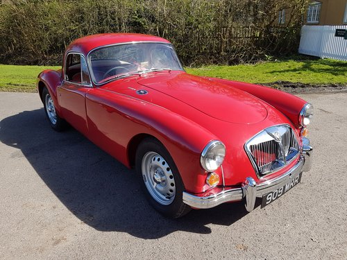 1962 MGA MK2 Coupe Deluxe 1622cc Super Rare & Immaculate SOLD (picture 1 of 6)