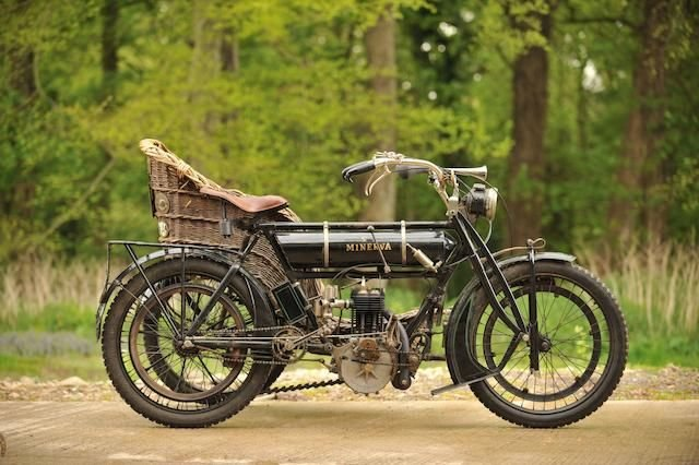 1909 MINERVA 3½HP WITH WICKER SIDECAR (LOT 383) SOLD by Auction (picture 1 of 1)