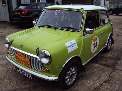 Classic Mini 1275 historic Rally car 1972 For Sale (picture 2 of 6)