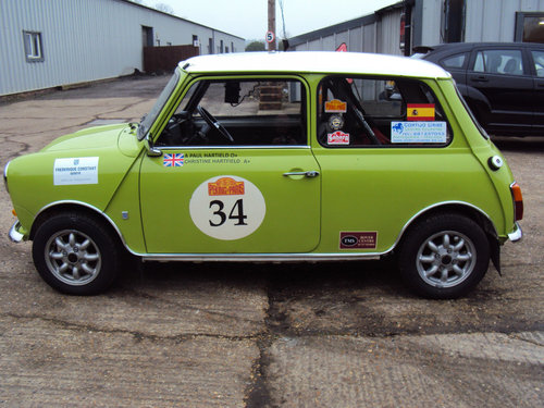 Classic Mini 1275 historic Rally car 1972 For Sale (picture 3 of 6)