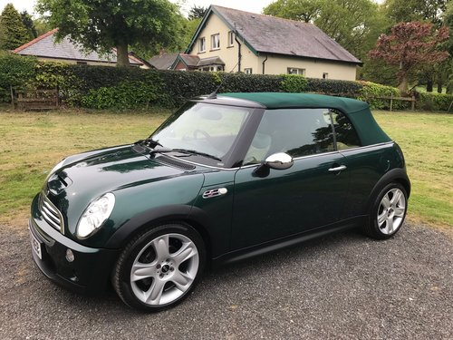 2007 MINI COOPER 'S' CONVERTIBLE GREEN/TAN 26K STUNNING!! SOLD (picture 2 of 6)