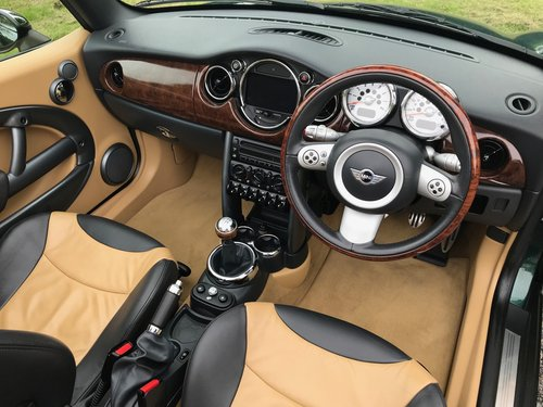 2007 MINI COOPER 'S' CONVERTIBLE GREEN/TAN 26K STUNNING!! SOLD (picture 5 of 6)