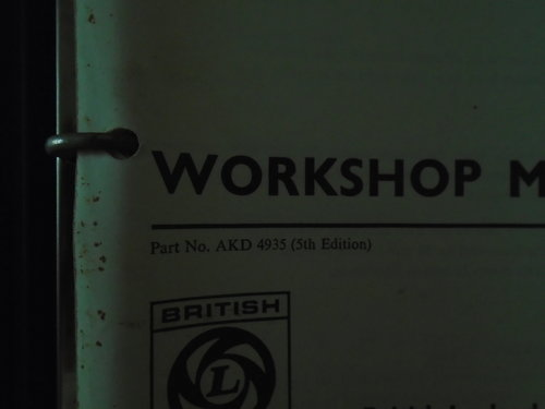 Official workshop manual For Sale (picture 3 of 3)