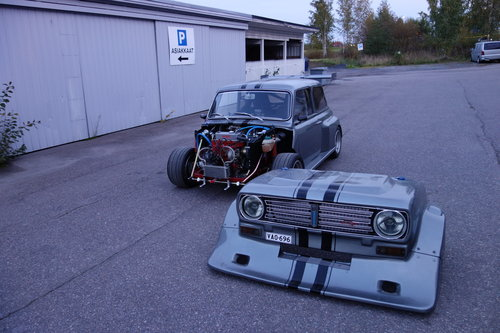 1973 Mini track car.  A-series 1420cc, Full Race track car. For Sale (picture 1 of 6)