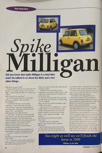 1988 Mini Mayfair - Ex Spike Milligan 'The Goon Show' For Sale (picture 5 of 6)