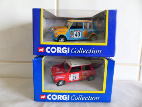 2 MINI COOPERS-HSS HIRE & MONTE CARLO-1:43 SCALE For Sale (picture 1 of 6)
