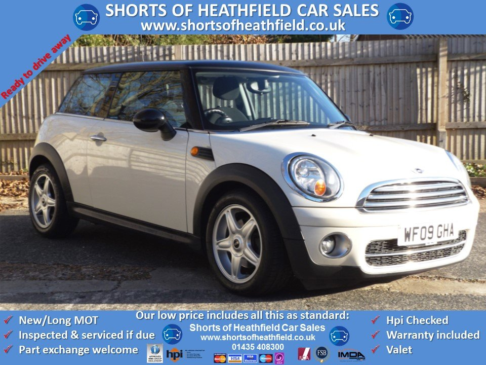 2009 Mini Cooper 1.6 D Diesel (Pepper/Salt) + Panoramic Roof For Sale (picture 1 of 1)