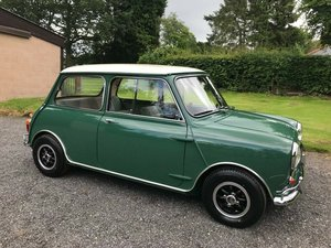 1965 MK1 MORRIS MINI COOPER GREEN/WHITE CONCOURS SHOW CAR!!