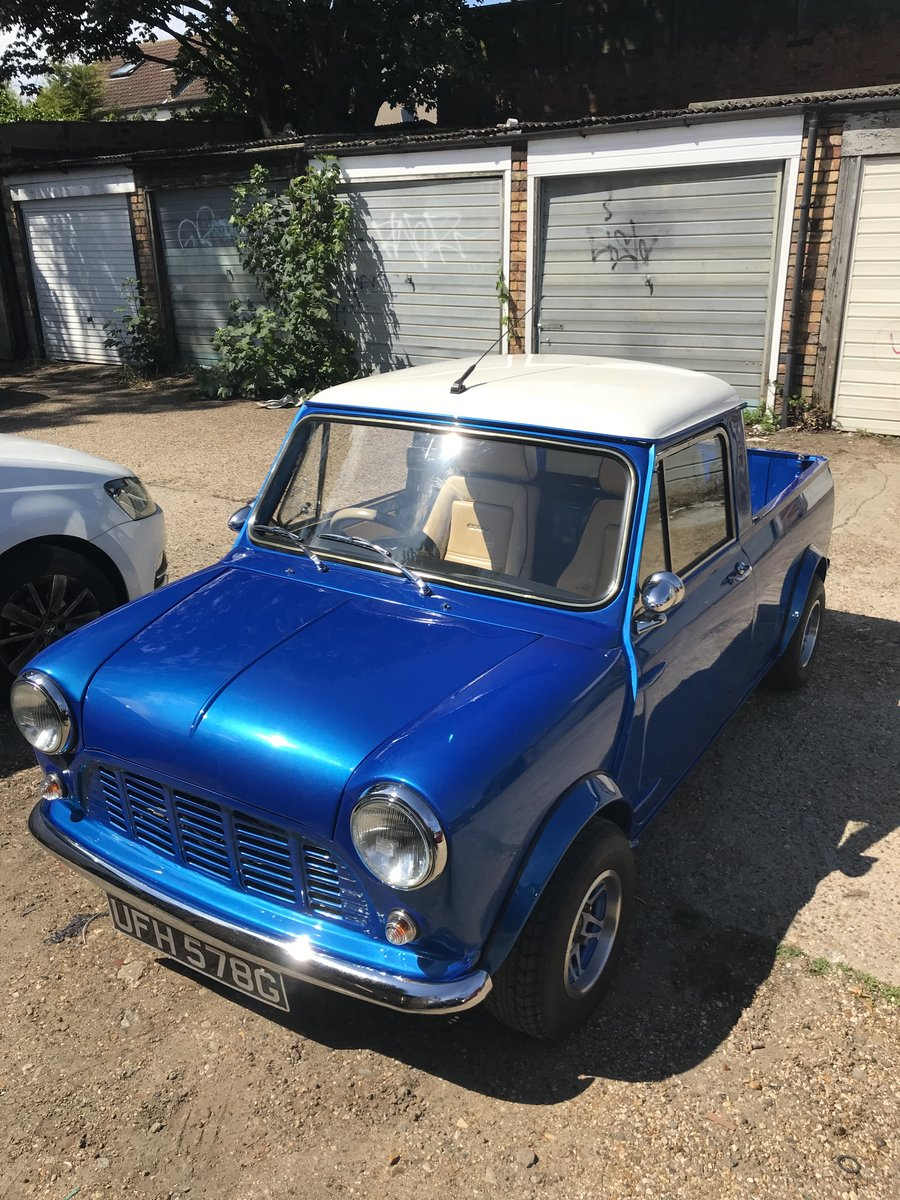 1969 Morris Mini Pickup, 1310cc Super Charged. SOLD (picture 1 of 6)