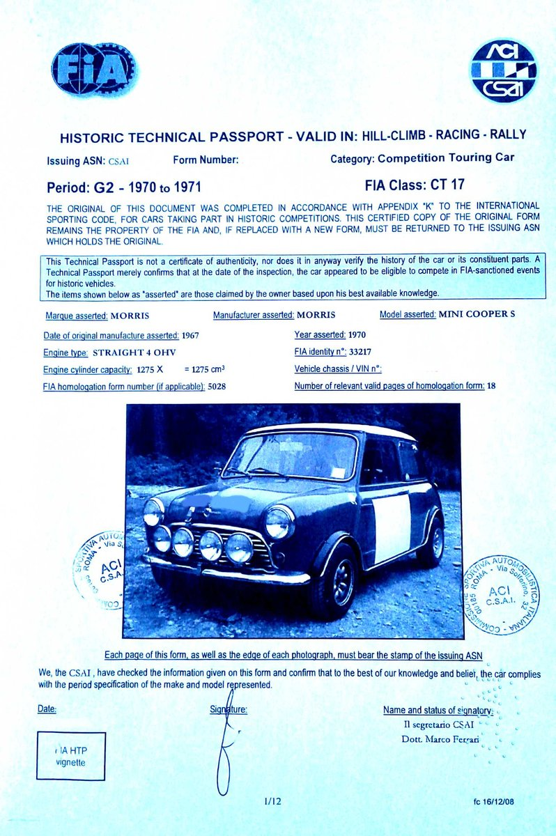 Morris Cooper S year 1967 For Sale (picture 6 of 6)