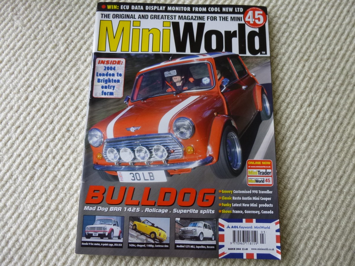 1991 Bill Richards Built Fast Road Mini Cooper. SOLD (picture 6 of 6)