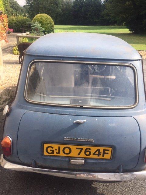 1967 mini MK1 Genuine Barn Find Classic  For Sale (picture 3 of 6)