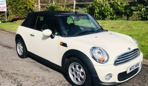 2012 / 62 MINI Cooper Convertible in Pepper White  For Sale