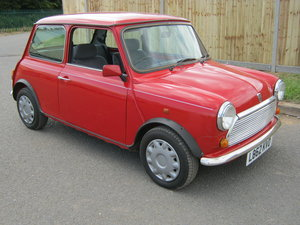 1993 MINI MAYFAIR AUTOMATIC. 1275 cc. BRIGHT RED STUNNER