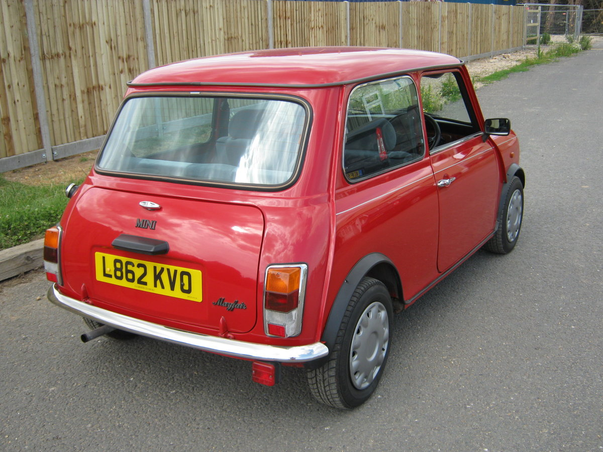 1993 MINI MAYFAIR AUTOMATIC. 1275 cc. BRIGHT RED STUNNER  For Sale (picture 4 of 6)