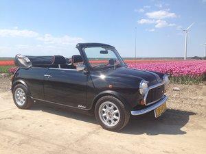 1988 Austin Mini Jet Black Cabrioni For Sale