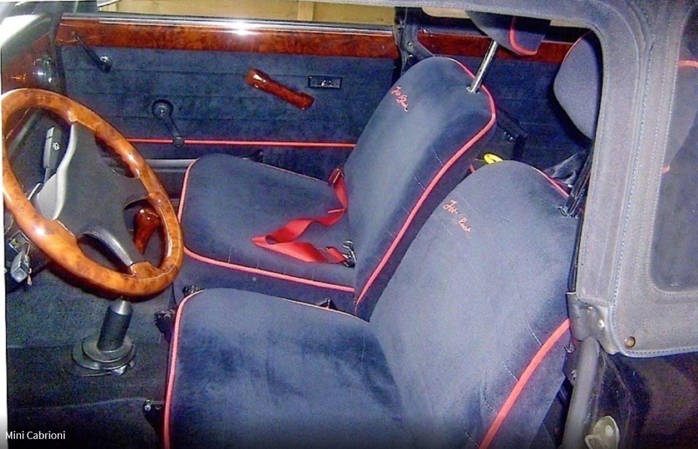 1988 Austin Mini Jet Black Cabrioni For Sale (picture 3 of 6)