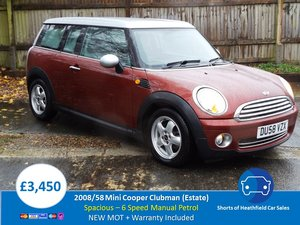 2008/58 Mini Clubman 1.6 Cooper (Pepper)