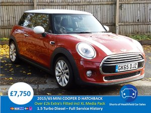 2015/65 Mini Cooper D 1.5 Turbo Diesel Over £2k Extras For Sale