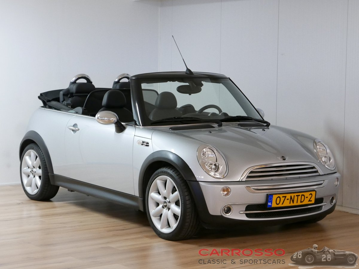 2005 Mini Cooper 1.6 Cabrio with only 84.304 KM For Sale (picture 1 of 6)