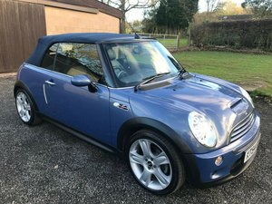2004 MINI COOPER S CONVERTIBLE BLUE JUST 34K F.S.H STUNNING! SOLD