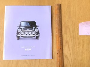 1999 Mini brochure accessories  For Sale