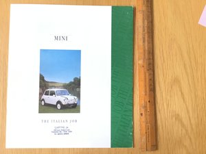 1992 Mini Italian Job brochure SOLD