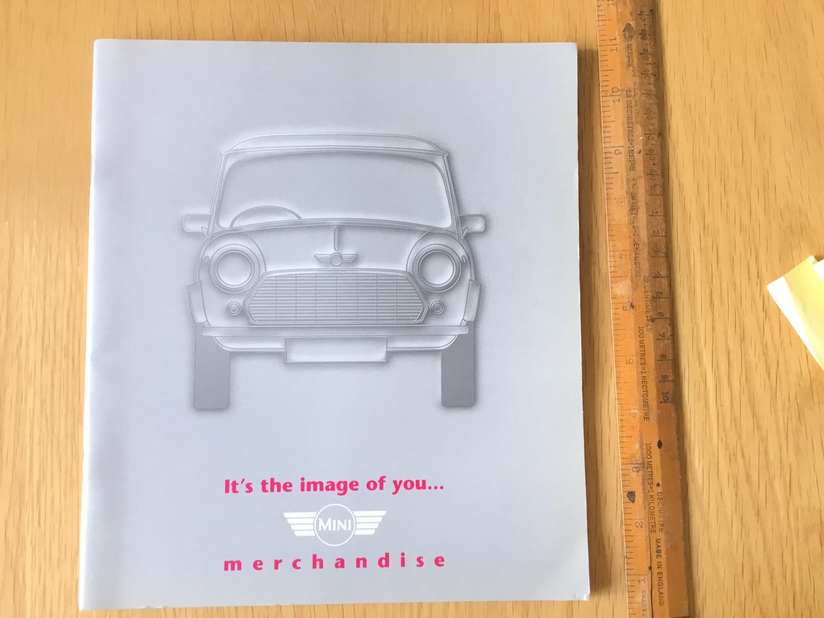 1996 Mini merchandise brochure For Sale (picture 1 of 1)