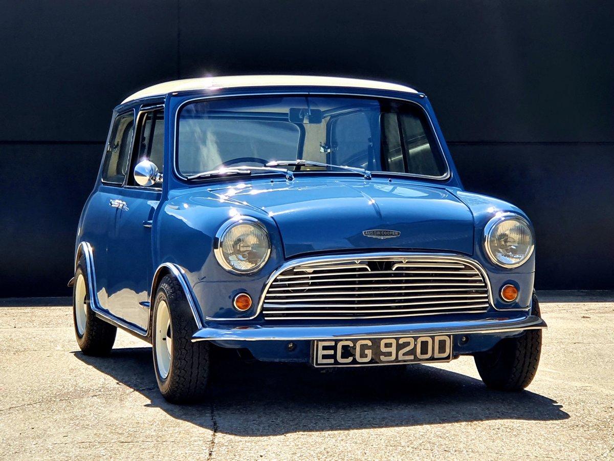 1966 Austin Mini Cooper MK1 - Island Blue 998cc For Sale (picture 1 of 6)