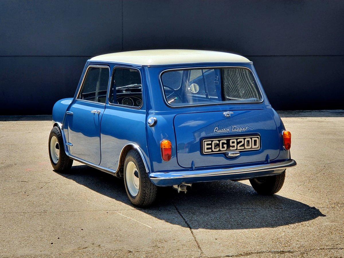 1966 Austin Mini Cooper MK1 - Island Blue 998cc For Sale (picture 2 of 6)
