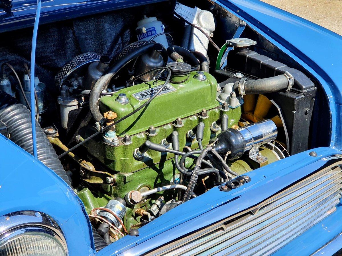 1966 Austin Mini Cooper MK1 - Island Blue 998cc For Sale (picture 5 of 6)