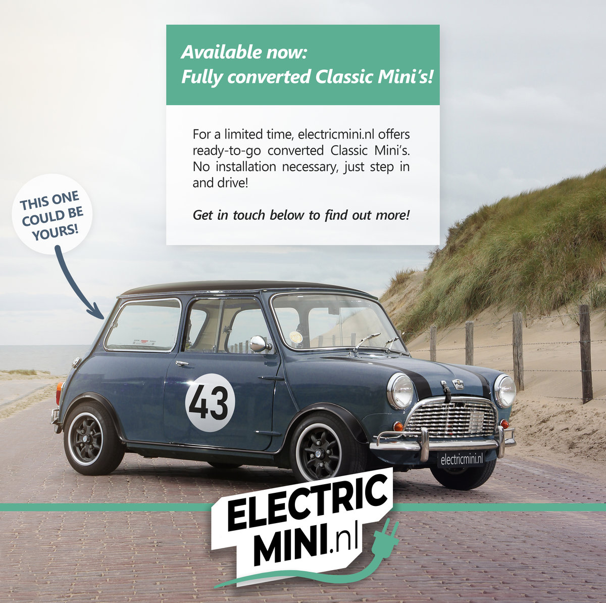 1968 Electric classic Mini - sold with reservation For Sale (picture 1 of 1)