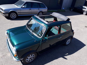 MINI 1300 cabrio Balmoral (1996) green tartan interior