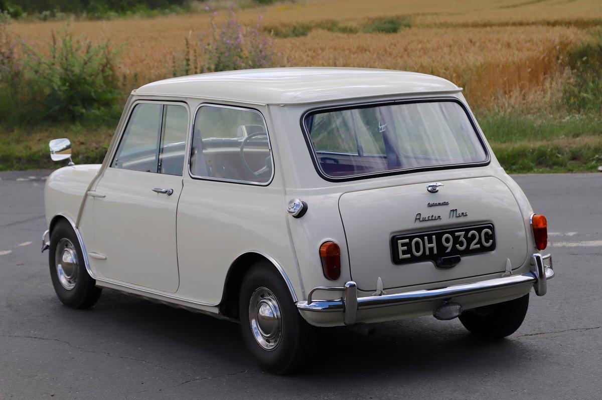 Austin Mini Mk1 Automatic Super De-Luxe, 1965. For Sale (picture 2 of 5)
