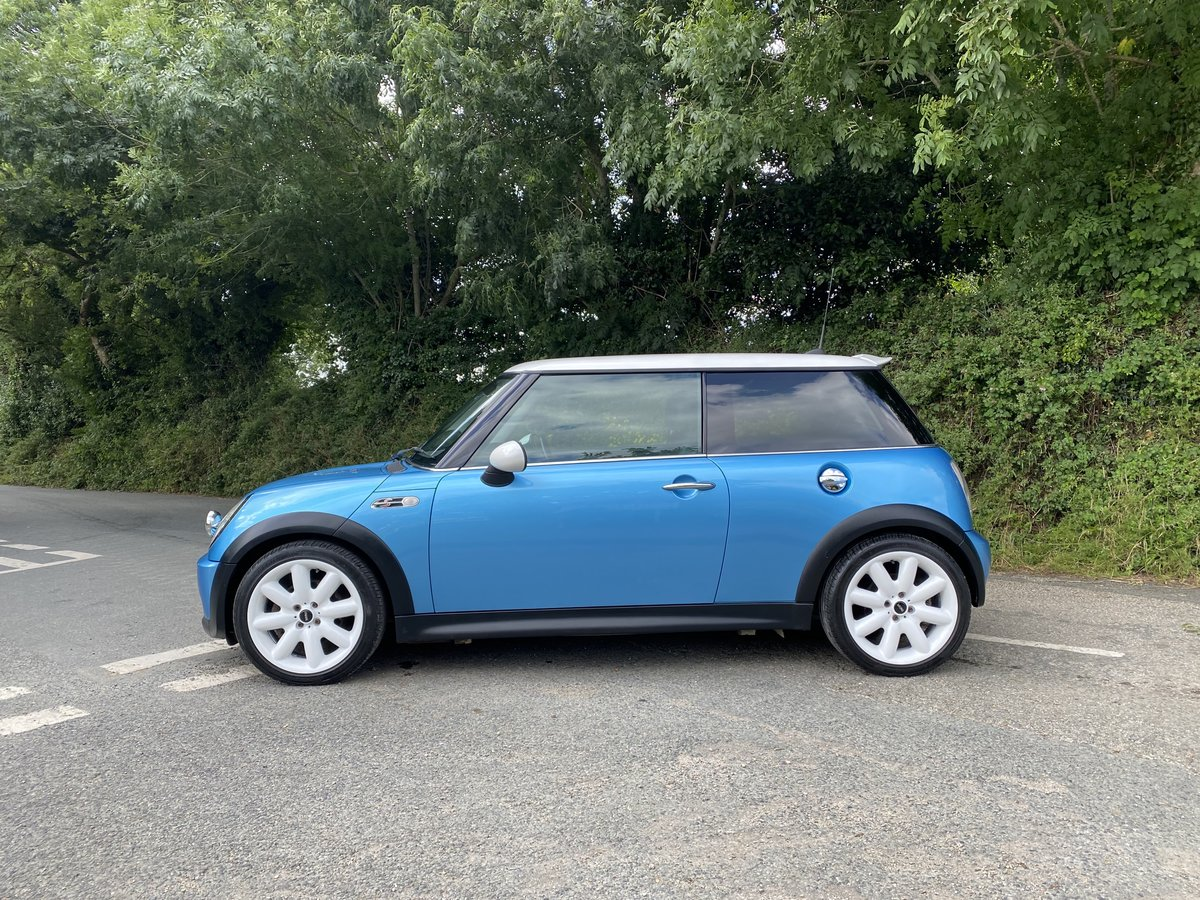 2005 55 MINI COOPER S ELECTRIC BLUE GREAT SPEC CAR STUNNING  For Sale (picture 2 of 6)