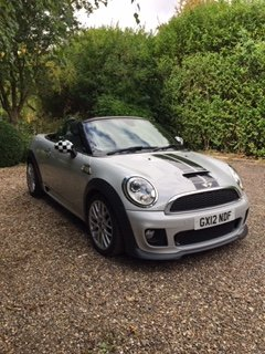 2012 Mini Cooper S Roadster Full JCW pack.