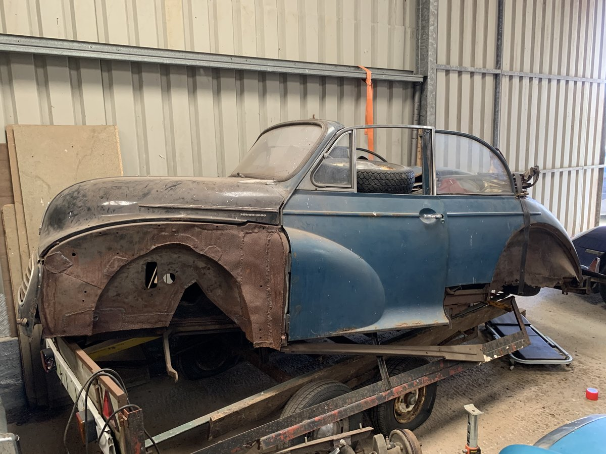 2007 Morris Minor Convertible for restoration For Sale (picture 1 of 5)