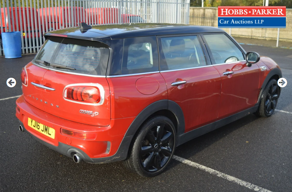 2016 Mini Clubman Cooper SD 37,645 Miles for auction 25th For Sale by Auction (picture 2 of 6)