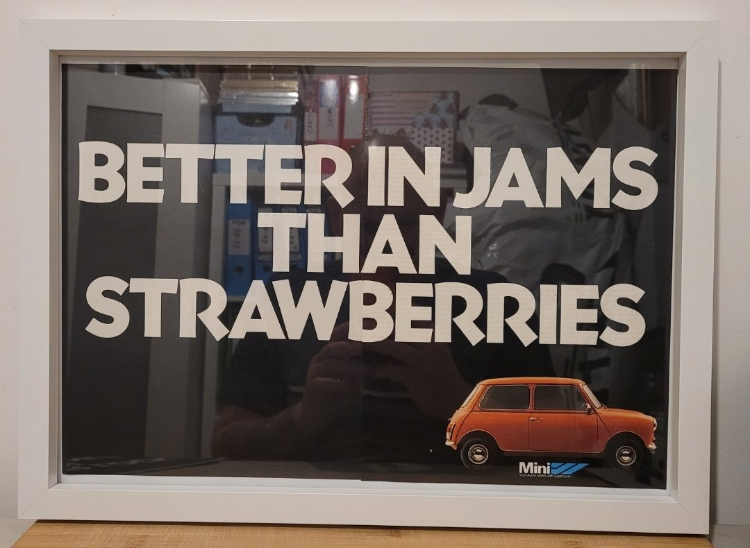 Original 1979 Mini Framed Advert