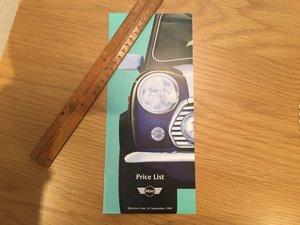 Picture of Mini price list 1999 For Sale