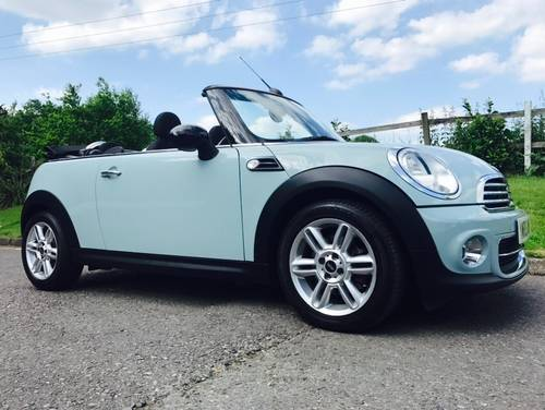 2011 Mini Cooper 16 Convertible Ice Blue Chili Pack Sold Car And