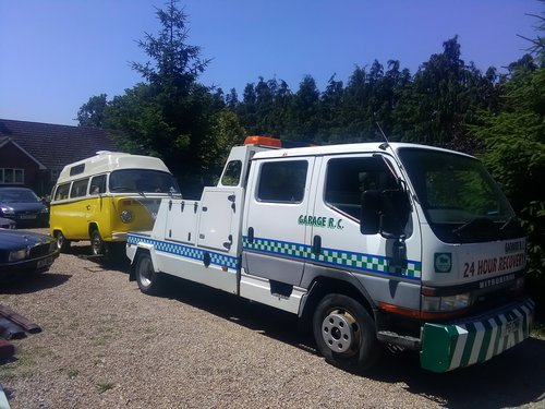1996 Mitsubishi twin cab spec lift recovery truck For Sale (picture 2 of 6)