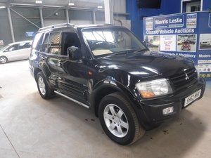2002 Mitsubishi Shogun V6 GDI Animal A at Morris Leslie Auction For Sale by Auction