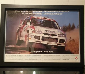 Picture of 1996 Mitsubishi Evo 3 Framed Advert Original
