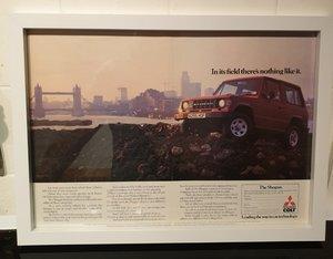 1984 Original Mitsubishi Shogun Framed Advert