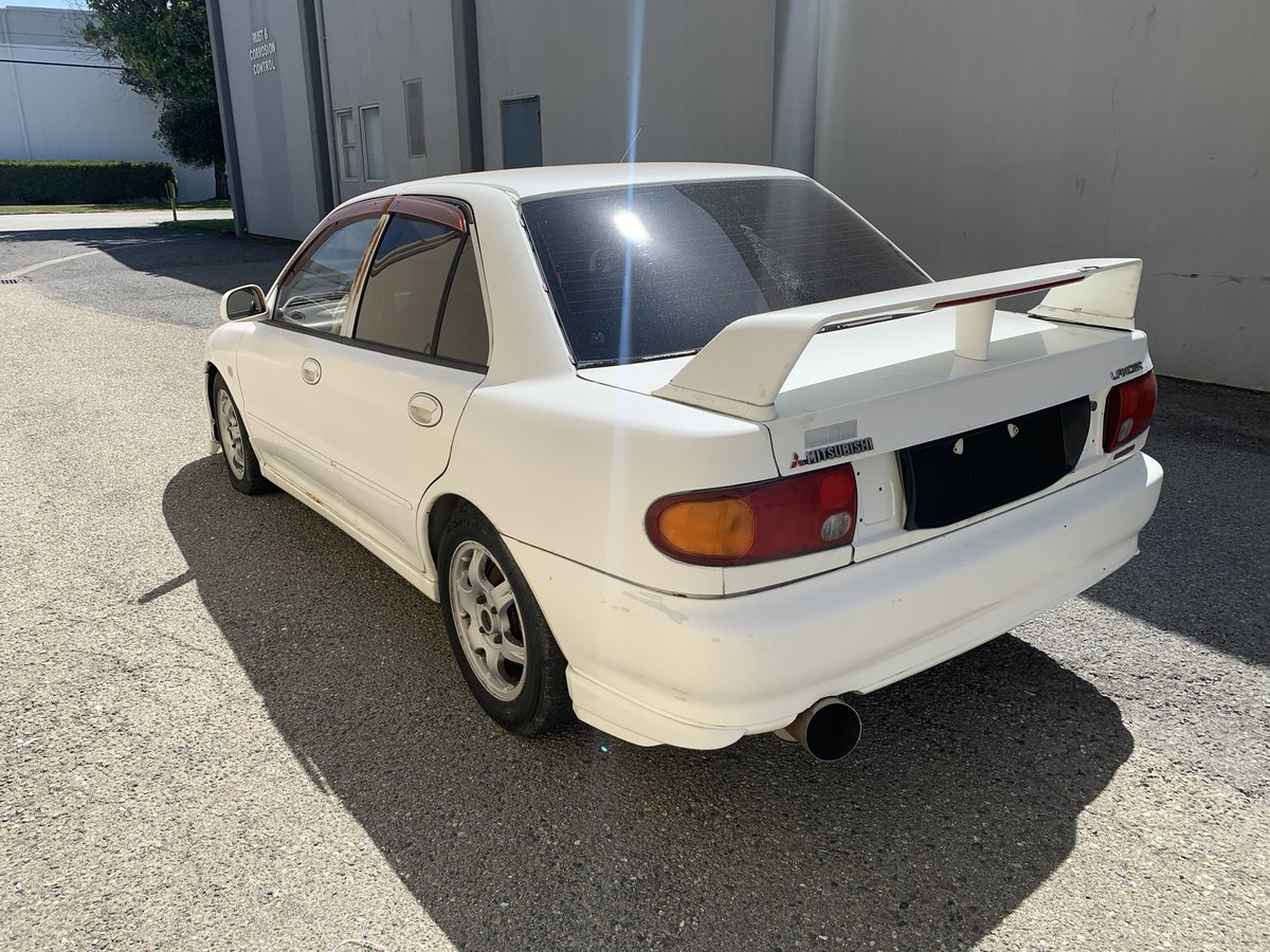 1992 Mitsubishi Lancer Evolution RS Rare RHD 4WD Fast White For Sale (picture 2 of 6)